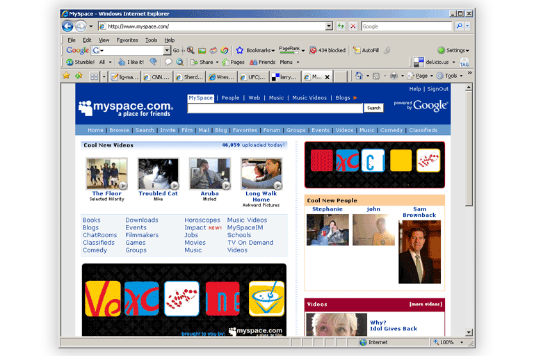 Myspace was so cool back in the day