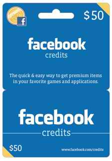 Facebook Gift Cards at Walmart