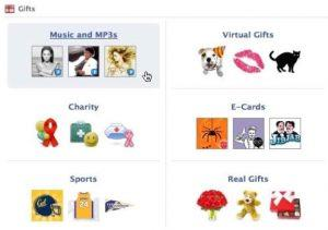 Facebook Gift Options