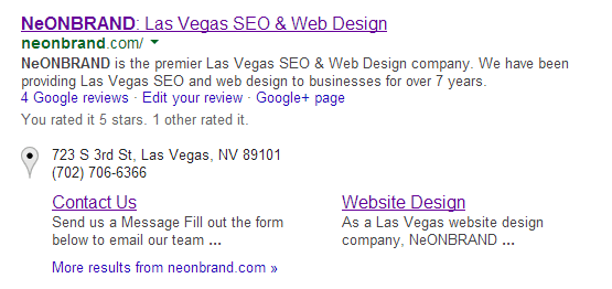 Sitelinks Search Results