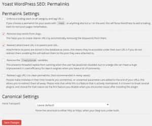 Yoast WordPress SEO Permalinks