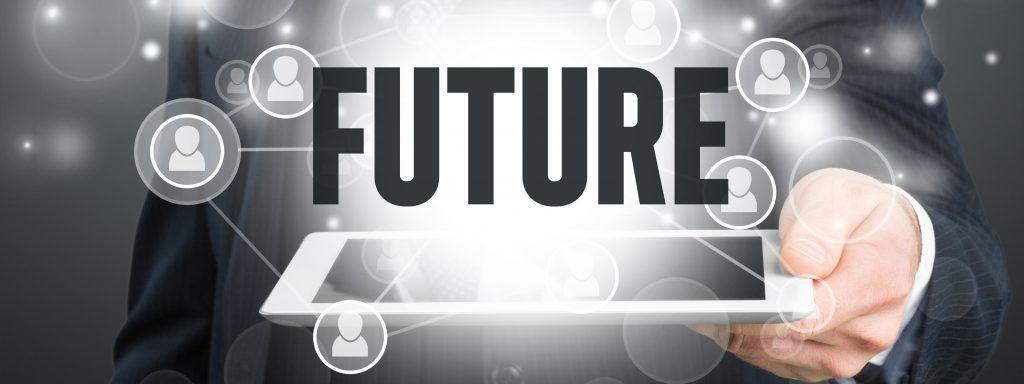 Future, technology, man.