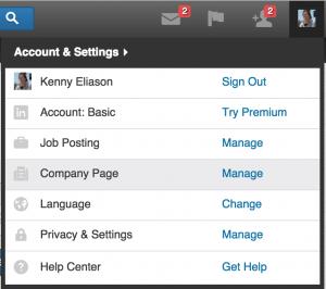 Access a Company Page on LinkedIn