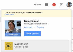 Getting to your Google+ Business Page