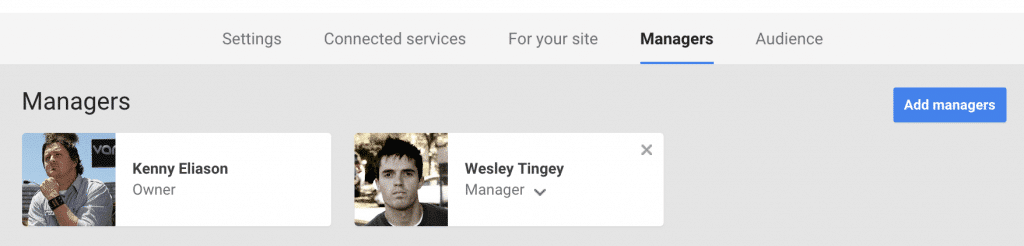 Google+ Business Page Managers