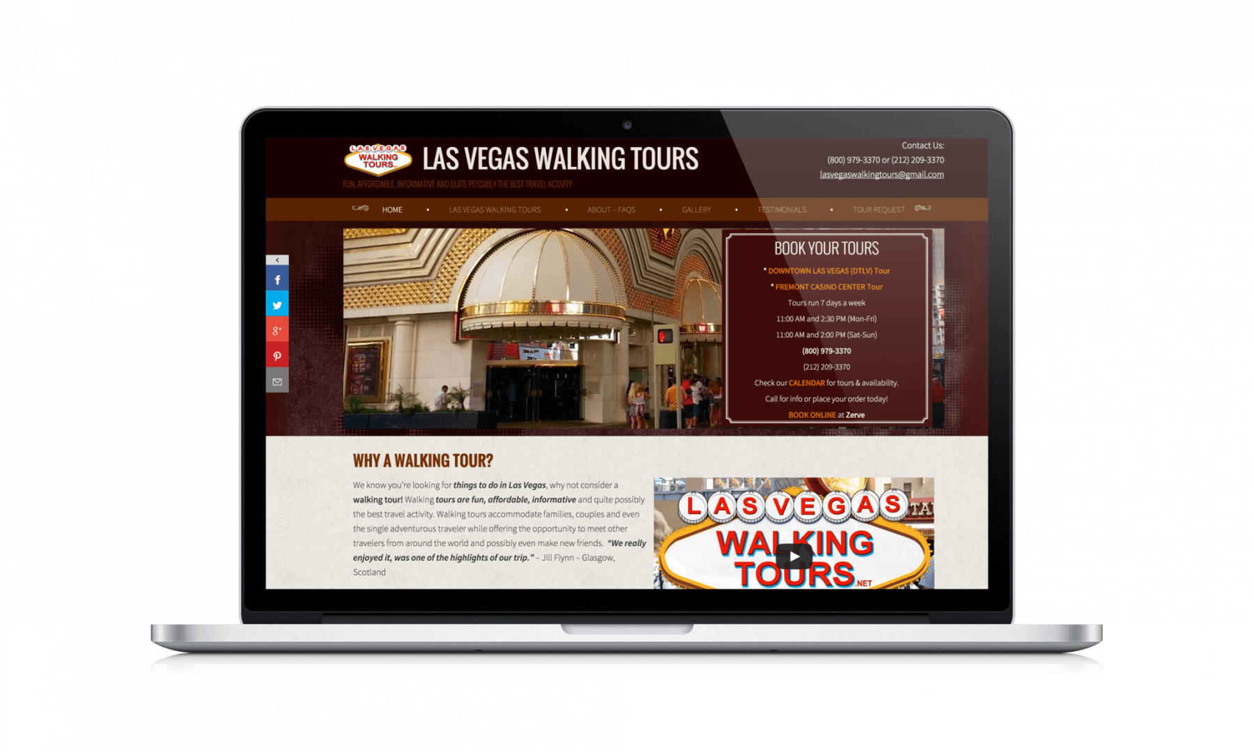 Las Vegas Web Design Las Vegas Walking Tours