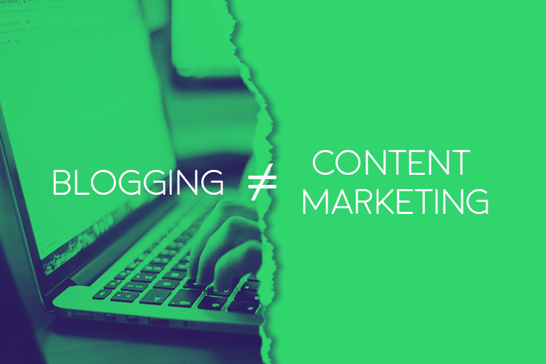 content marketing and blogging are different animals