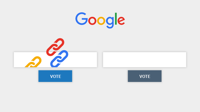 google counts backlinks like votes