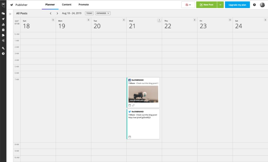 Hootsuite Planner Calendar